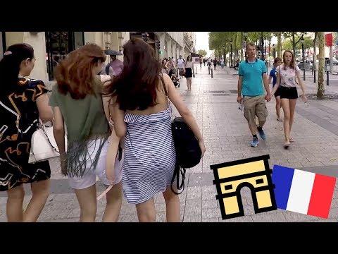 Avenue des Champs-Élysées Paris 2018 Visual Walk Tour in HD (1080p 60fps)