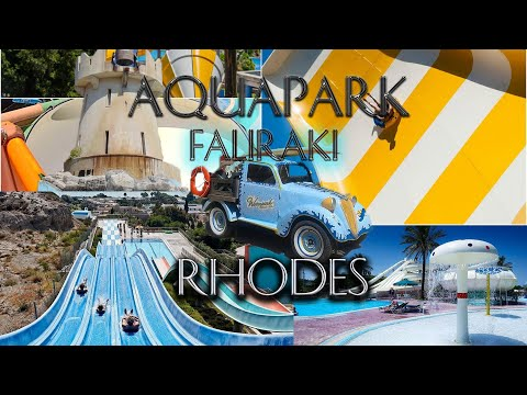Aquapark Faliraki Rhodes Greece,July 2019,Gopro 7,4K