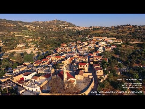 Kato Lefkara, Larnaca (Cyprus aerial video)