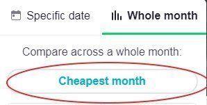 החודש הזול ביותר לטיסה