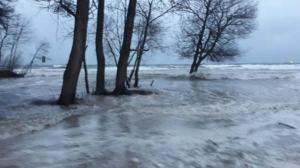 חוף Jelitkowo. בחורף