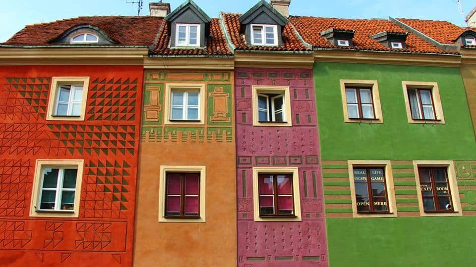 בתים בכיכר העיר בפוזנן