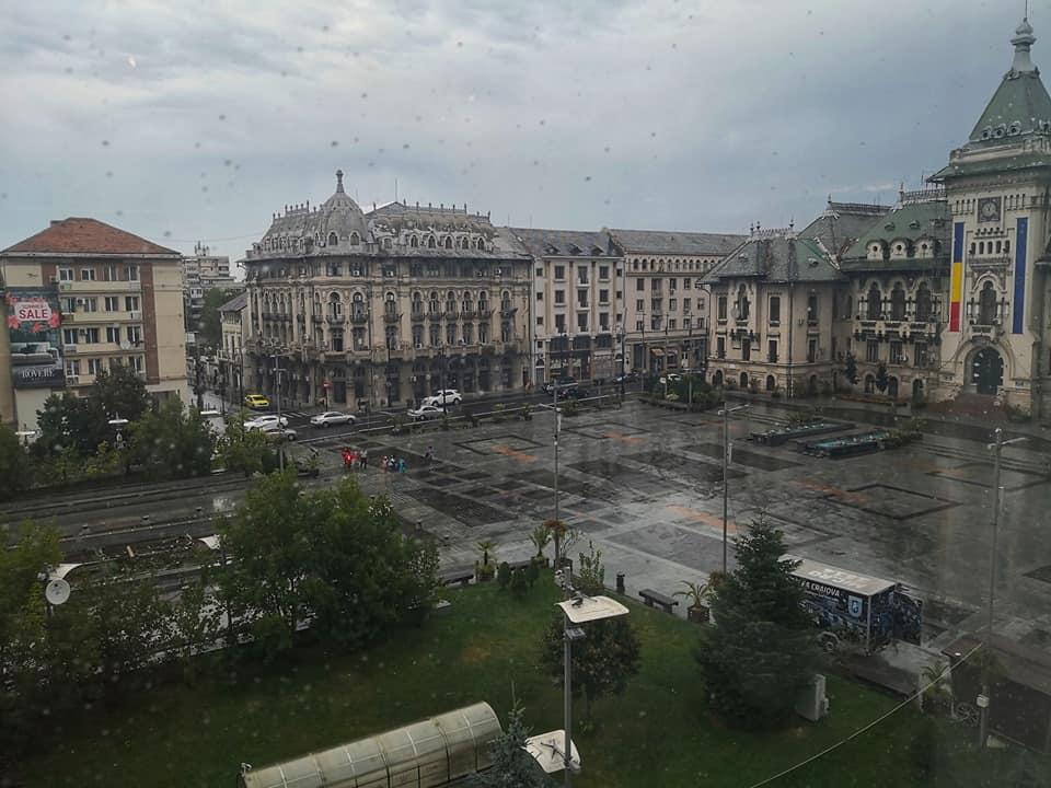 מרכז העיר קראיובה ביום גשום