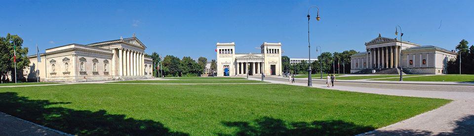 כיכר אודאוןן במינכן מראה פנורמי