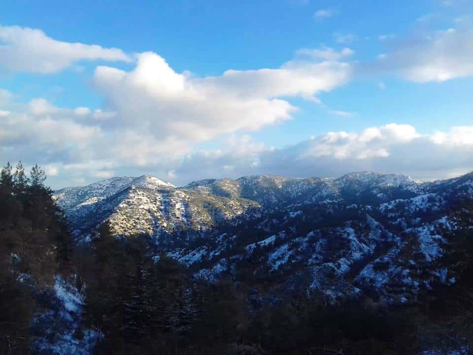 נוף באזור הרי הטרודוס