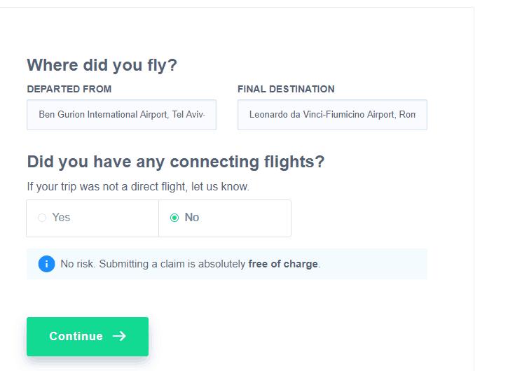 האם זו הייתה טיסה ישירה?